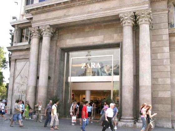 Limpieza integral de fachada y pulido de la misma en planta baja edificio Zara (Paseo de Gracia 19)